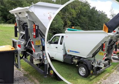 EVO Transporter mit Aufbau für die Müllabfuhr-