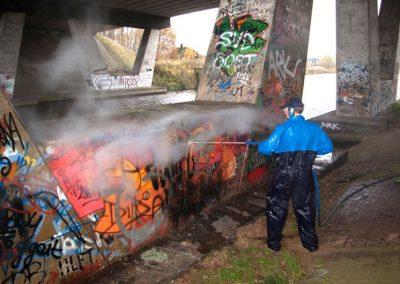 Grafitientfernung mit 100 % Heißwasser